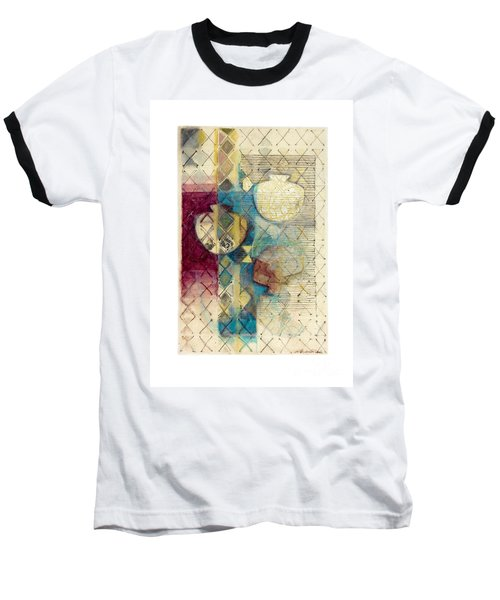 Baseball T-Shirt featuring the painting Trans Xs No 1 by Kerryn Madsen- Pietsch