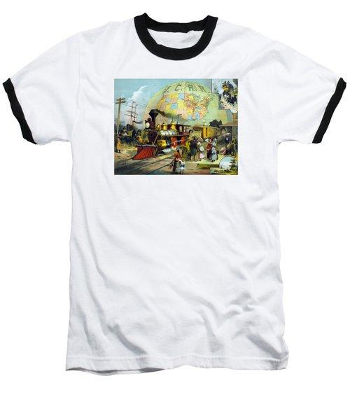 Transcontinental Railroad Baseball T-Shirt