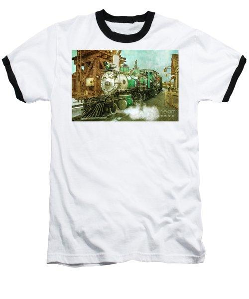 Traveling By Train Baseball T-Shirt by Claudia Ellis