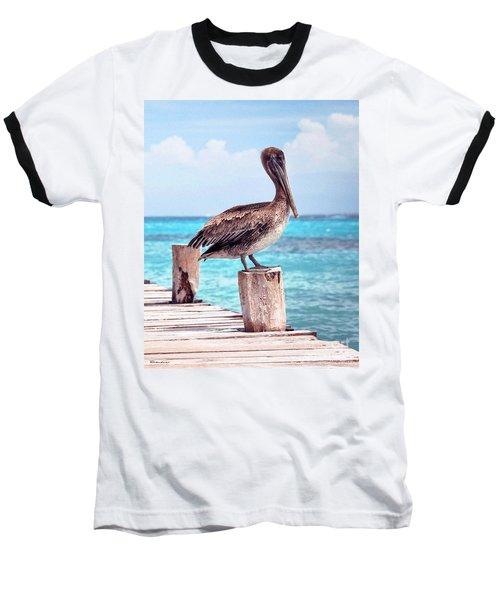 Treasure Coast Pelican Pier Seascape C1 Baseball T-Shirt
