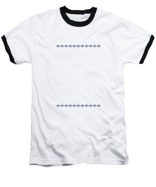 Treasure Knot In Blue 2 Baseball T-Shirt