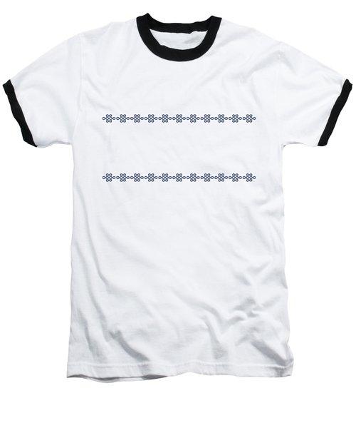 Treasure Knot In Blue Baseball T-Shirt