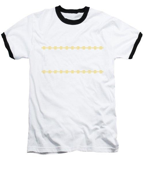 Treasure Knot In Yellow Baseball T-Shirt