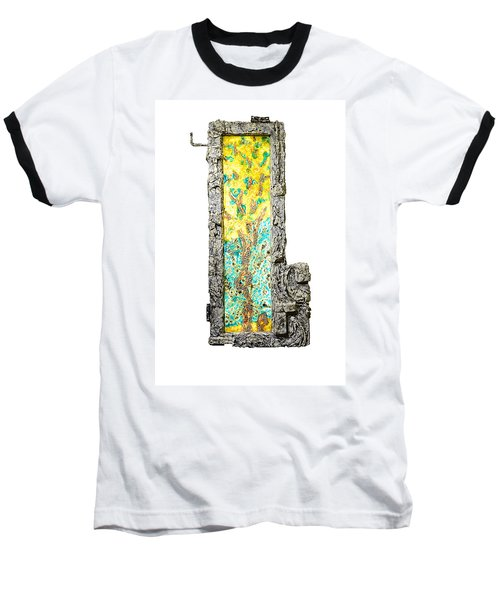 Tree And Stump Inside A Window Baseball T-Shirt
