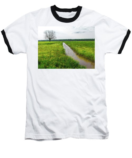Tree In Field 2 Baseball T-Shirt