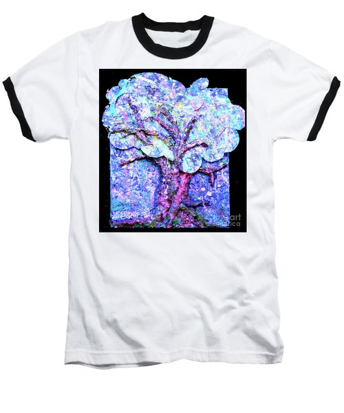 Baseball T-Shirt featuring the painting Tree Menagerie by Genevieve Esson