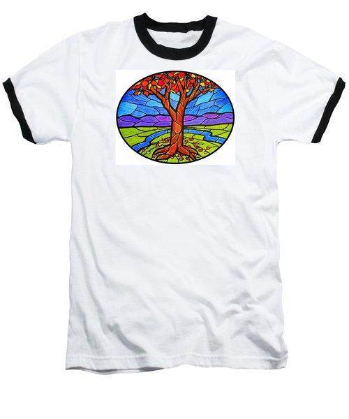 Tree Of Grace - Autumn Baseball T-Shirt by Jim Harris