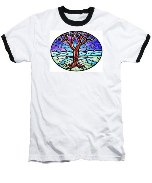 Tree Of Grace - Winter Baseball T-Shirt by Jim Harris