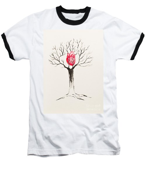 Tree Of Hearts Baseball T-Shirt by Stefanie Forck