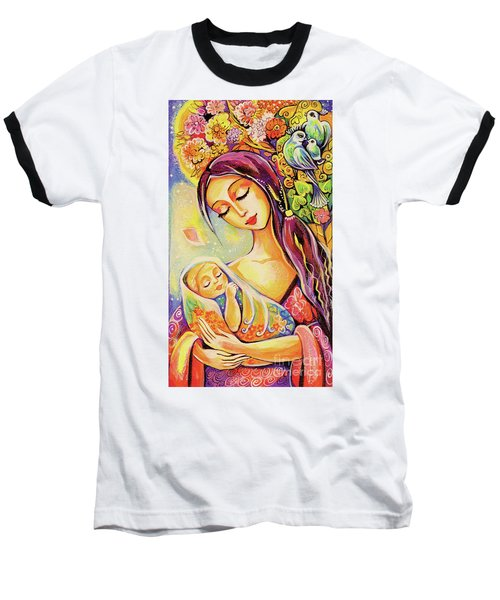 Baseball T-Shirt featuring the painting Tree Of Life by Eva Campbell