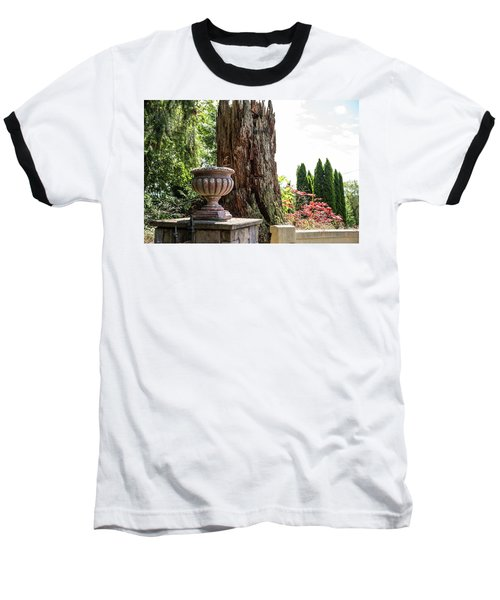 Tree Stump And Concrete Planter Baseball T-Shirt