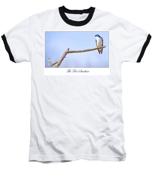 Tree Swallow On Branch Baseball T-Shirt by A Gurmankin
