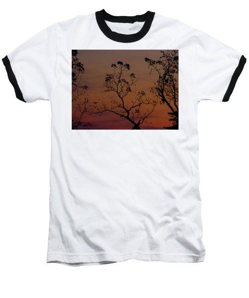 Tree Top After Sunset Baseball T-Shirt by Donald C Morgan