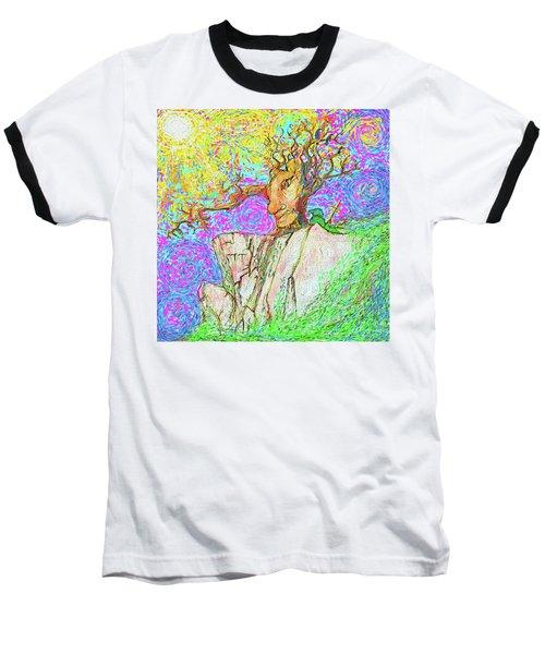 Tree Touches Sky Baseball T-Shirt by Hidden Mountain and Tao Arrow