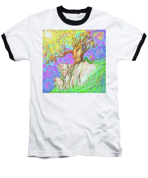 Tree Touches Sky Baseball T-Shirt