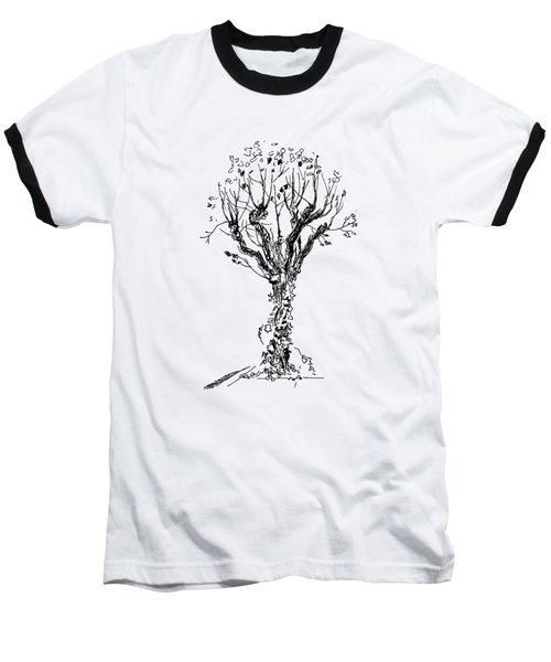 Tree With Bindweed Baseball T-Shirt