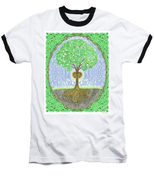 Tree With Heart And Sun Baseball T-Shirt