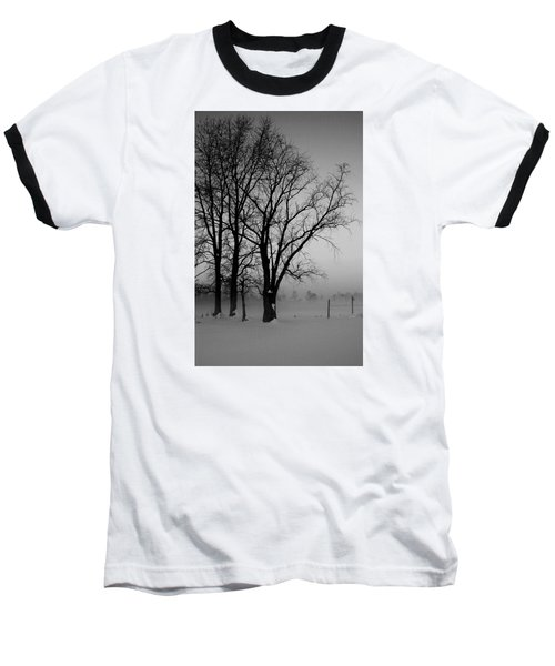 Trees In The Fog Baseball T-Shirt
