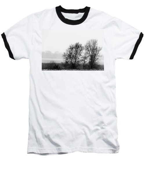 Trees In The Mist Baseball T-Shirt by Jay Stockhaus