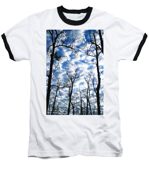 Trees In The Sky Baseball T-Shirt by Shari Jardina