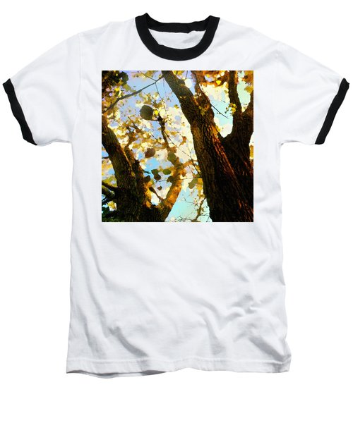 Baseball T-Shirt featuring the digital art Treetop Abstract-look Up A Tree by Shelli Fitzpatrick