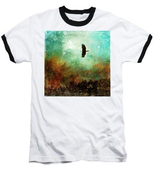 Treetop Eagle Flight Baseball T-Shirt