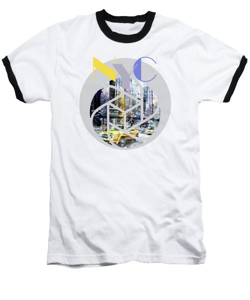 Trendy Design New York City Geometric Mix No 3 Baseball T-Shirt