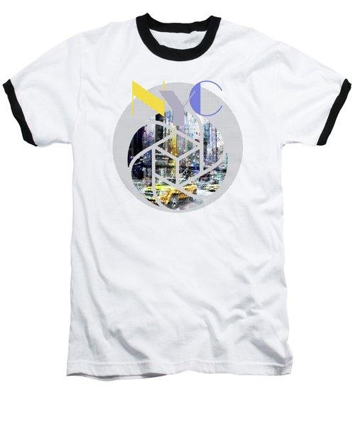 Trendy Design New York City Geometric Mix No 3 Baseball T-Shirt
