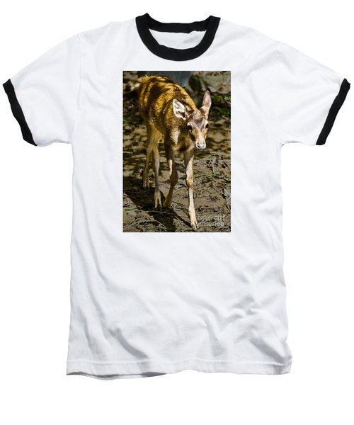 Baseball T-Shirt featuring the photograph Trepidation by Ray Shiu