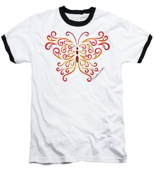 Tribal Butterfly Baseball T-Shirt