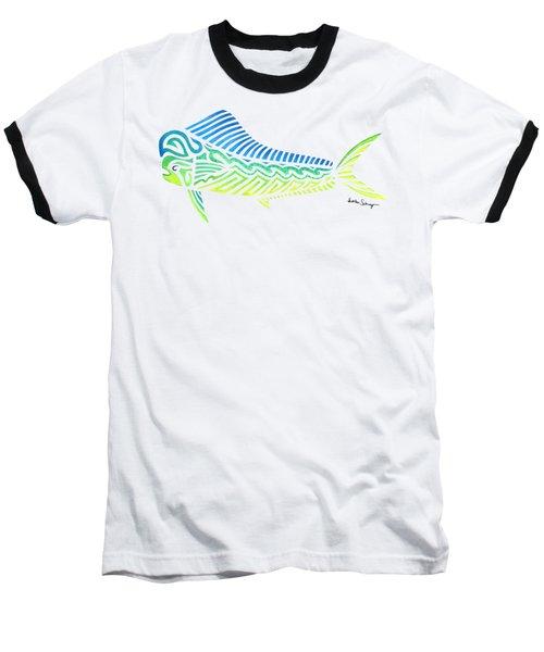 Tribal Mahi Mahi Baseball T-Shirt