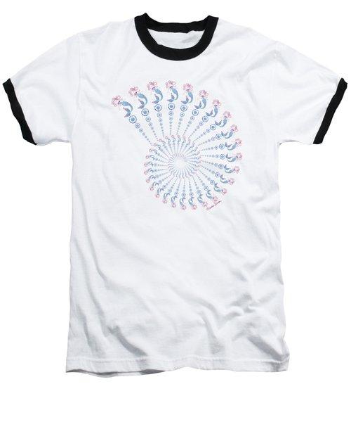 Tribal Mermaid Spiral Shell Baseball T-Shirt