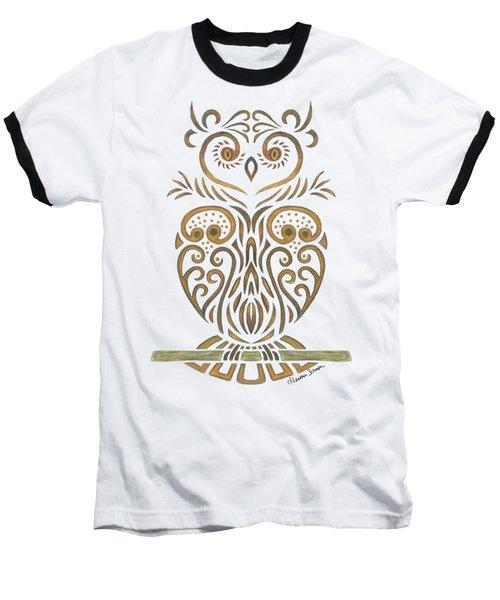 Tribal Owl Baseball T-Shirt