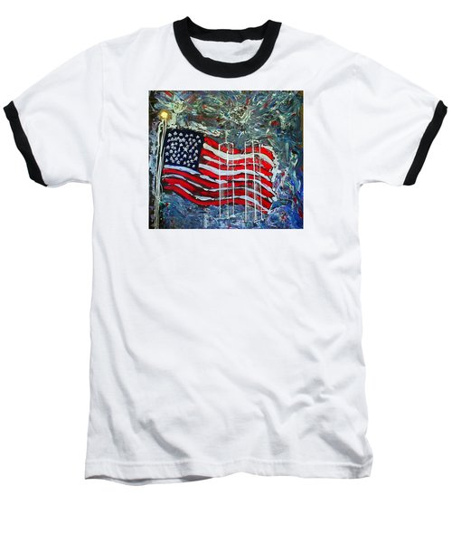 Baseball T-Shirt featuring the mixed media Tribute by J R Seymour