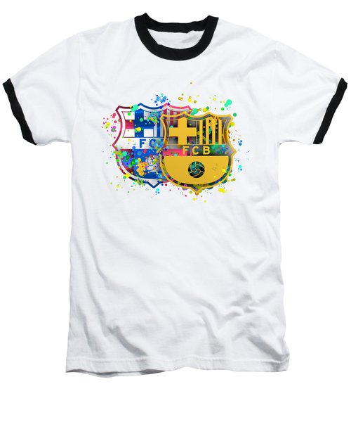 Tribute To Fc Barcelona 8 Baseball T-Shirt by Alberto RuiZ