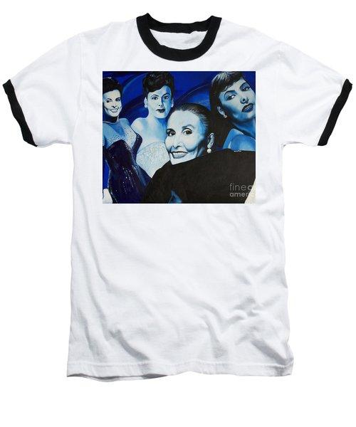 Tribute To Lena Horne Baseball T-Shirt by Chelle Brantley