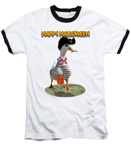 Trick Or Treat For Cap'n Duck Baseball T-Shirt