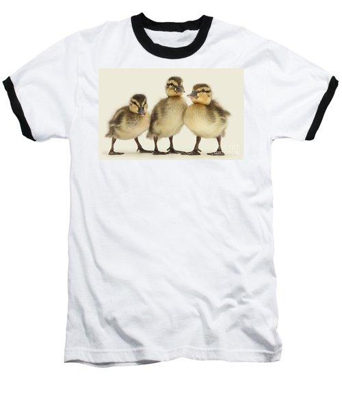 Triple Ducklings Baseball T-Shirt