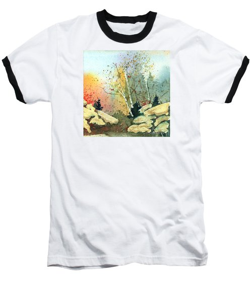 Triptych Panel 3 Baseball T-Shirt