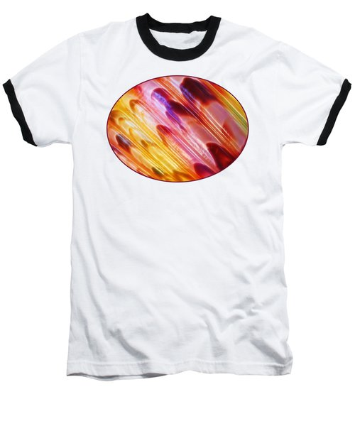 Triton Seashell Multicolor Abstract Baseball T-Shirt