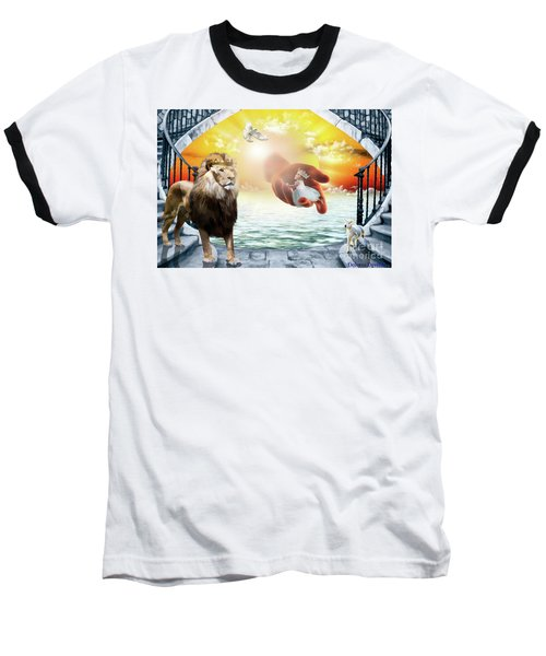 Baseball T-Shirt featuring the digital art Triune Protection by Dolores Develde