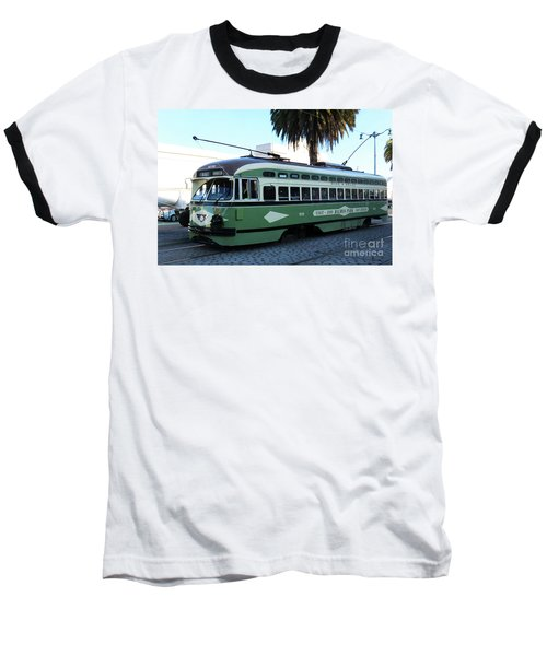 Baseball T-Shirt featuring the photograph Trolley Number 1078 by Steven Spak
