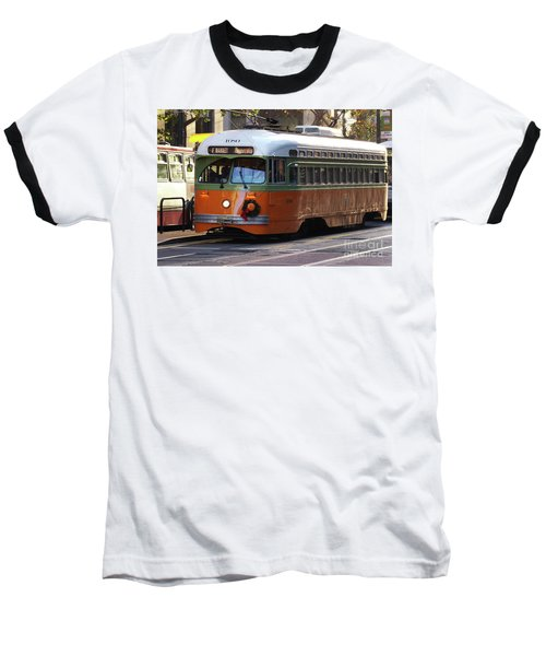Baseball T-Shirt featuring the photograph Trolley Number 1080 by Steven Spak