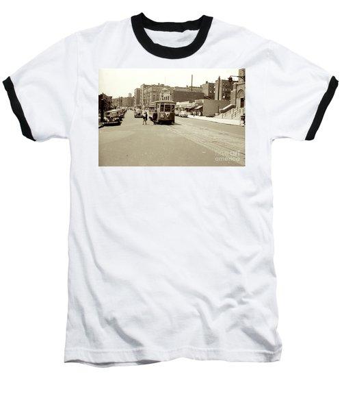 Trolley Time Baseball T-Shirt