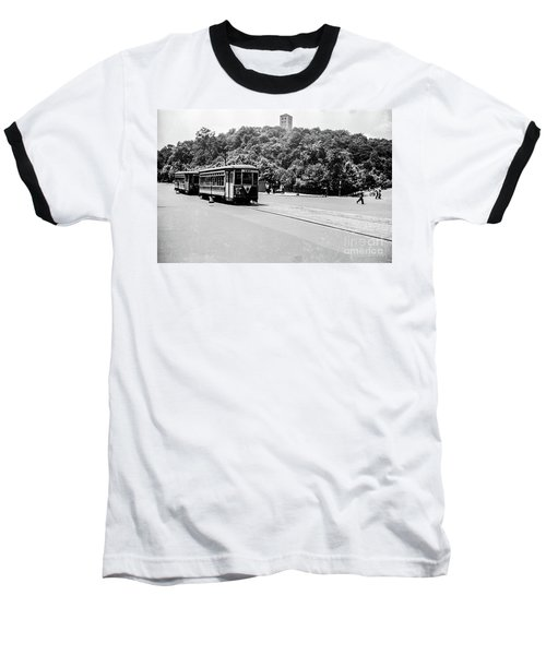 Baseball T-Shirt featuring the photograph Trolley With Cloisters by Cole Thompson