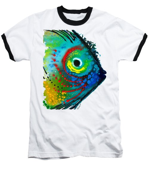 Tropical Fish - Art By Sharon Cummings Baseball T-Shirt by Sharon Cummings