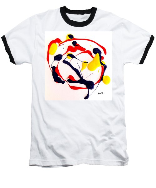 Baseball T-Shirt featuring the painting Tropical Fish by Fred Wilson