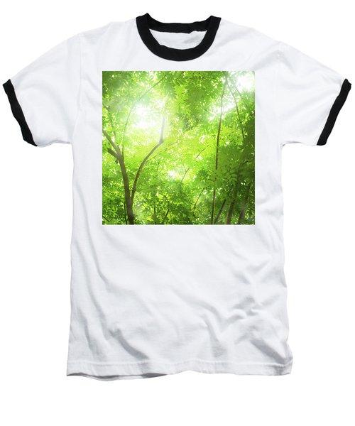 Tropical Forest Baseball T-Shirt by Atiketta Sangasaeng