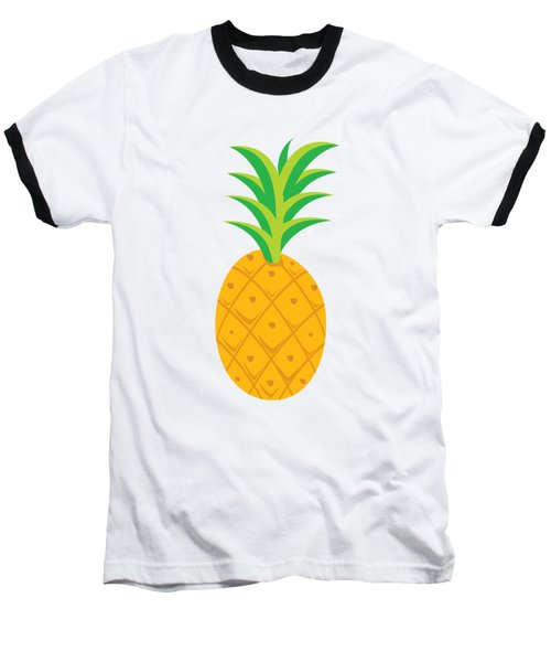 Tropical Fruits Ananas Pineapple Baseball T-Shirt by MGdezigns