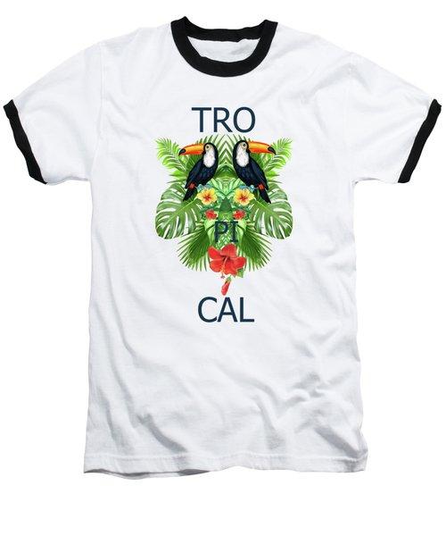 Tropical Summer  Baseball T-Shirt by Mark Ashkenazi